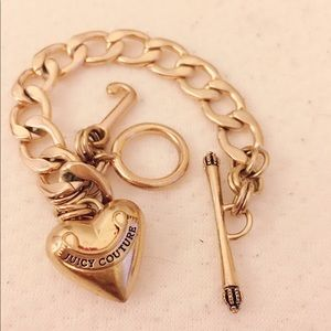 Authentic Juicy Couture Rosegold chain bracelet